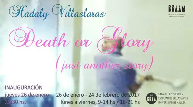 """Inauguración exposición """"Death or Glory (just another story)"""" de Hadaly Villasclaras. 26/01/17. Sala de exposiciones de BB.AA."""