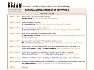 Programa Jornada de Bienvenida 2017-18