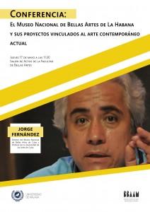 Cartel Conferencia Jorge Fernandez Vertical