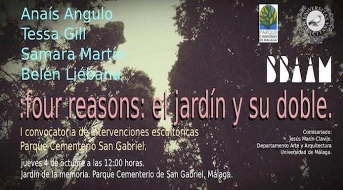 1ª convocatoria de intervenciones escultóricas. 4/10/18. 12:00. Jardín de la memoria. Parque cementerio San Gabriel. Málaga.