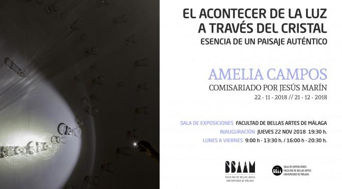 """Exposición: """"El acontecer de la luz al través del cristal, esencia de un paisaje auténtico"""", de Amelia Campos. 22/11/18. 19:30. Sala  Exp. F.  BB.AA."""