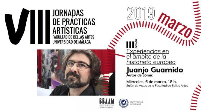 """Conferencia """"Experiencias en el ámbito de la historieta europea"""" de   Juanjo Guarnido. 6/03/19. 18:00. S. de Actos  bb.aa."""