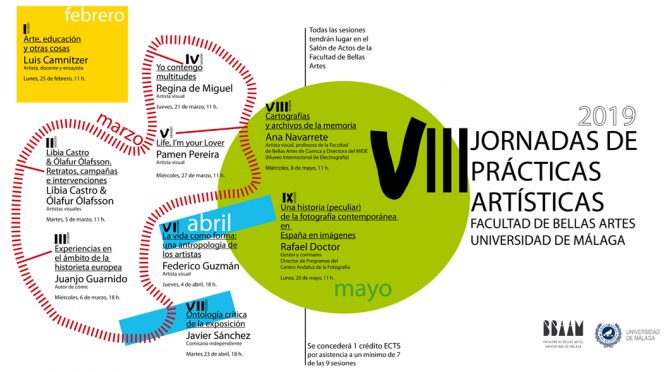 VIII JORNADAS PRÁCTICAS ARTÍSTICAS FACULTAD DE BB.AA. MÁLAGA. 2019