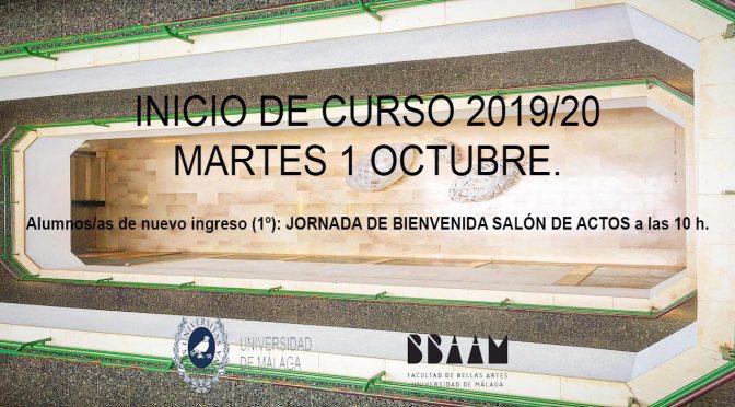 INICIO DE CURSO 2019/20 MARTES 1 OCTUBRE.