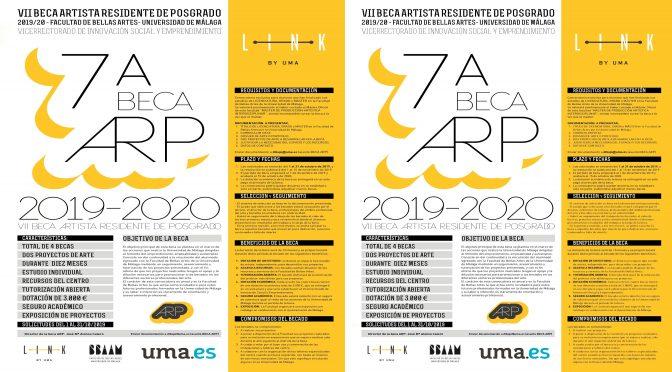 VII BECA ARTISTA RESIDENTE DE POSGRADO 2019-20 FACULTAD DE BELLAS ARTES UNIVERSIDAD DE MÁLAGA