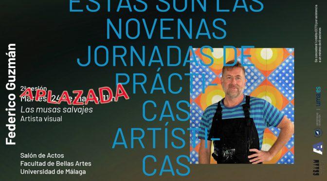 aplazada hasta nuevo aviso la conferencia del artista Federico Guzmán